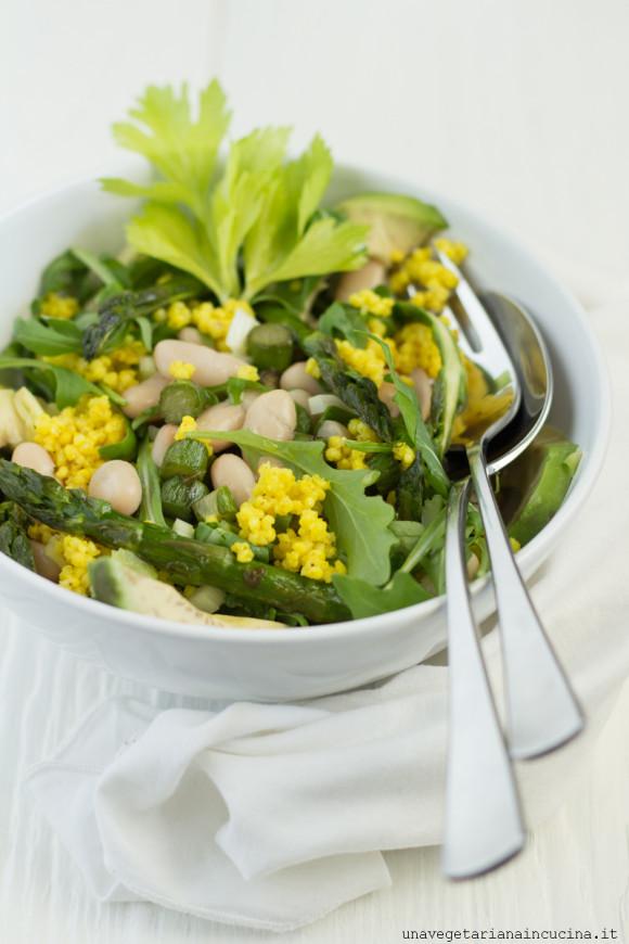 insalata miglio curcuma asparagi