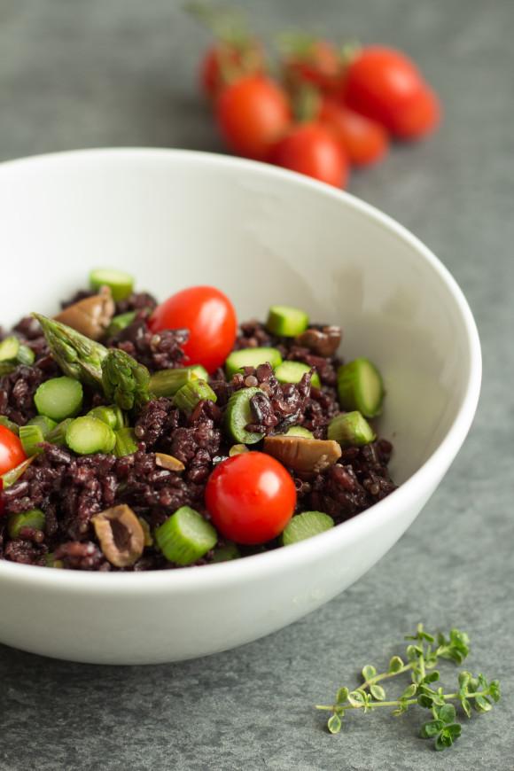 riso nero olive asparagi