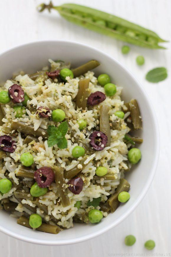 insalata riso fagiolini olive