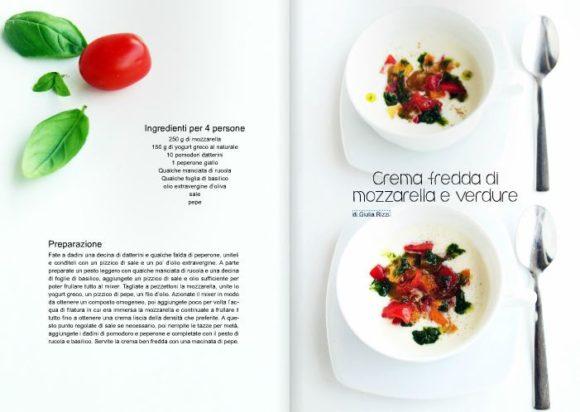crema fredda mozzerella verdure