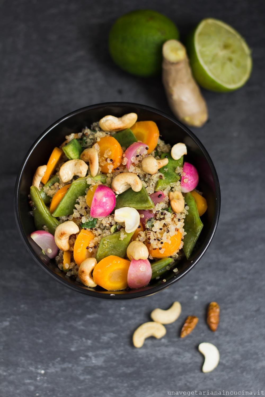 quinoa verdure peperoncino