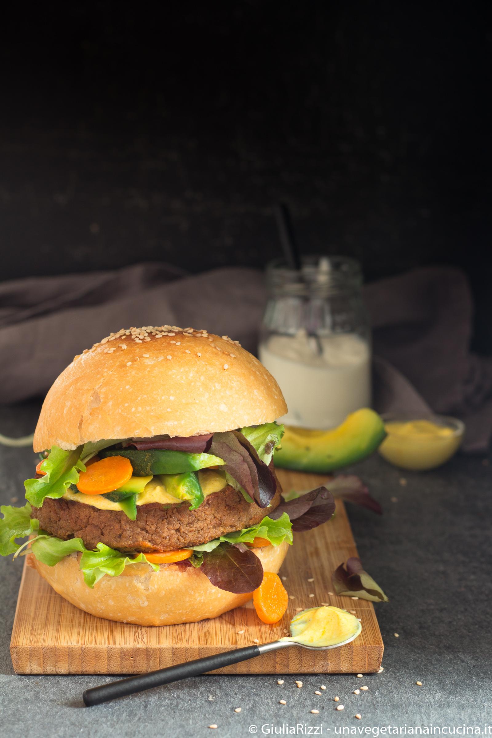 panino burger lenticchie