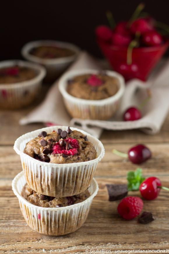 muffin avena segale ciliegie