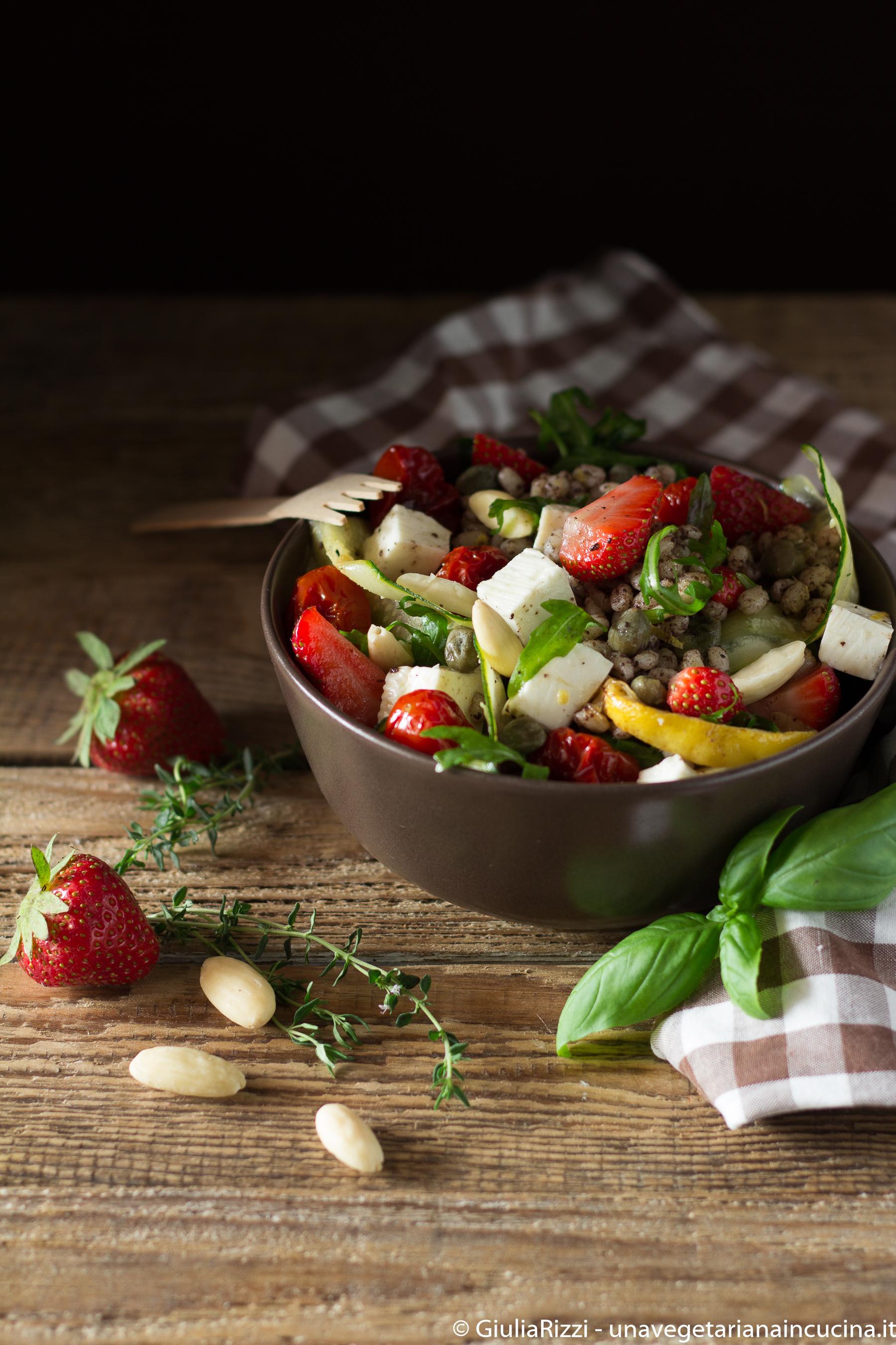 orzo mediterranea olive zucchine fragole