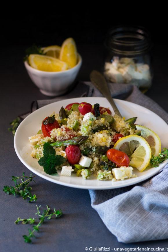 quinoa asparagi pomodorini
