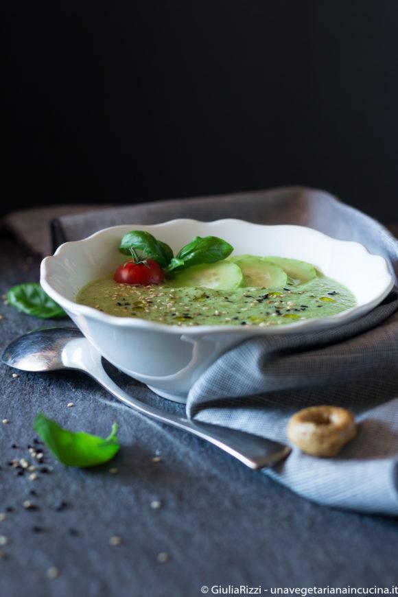 zuppa fredda cetrioli zucchine