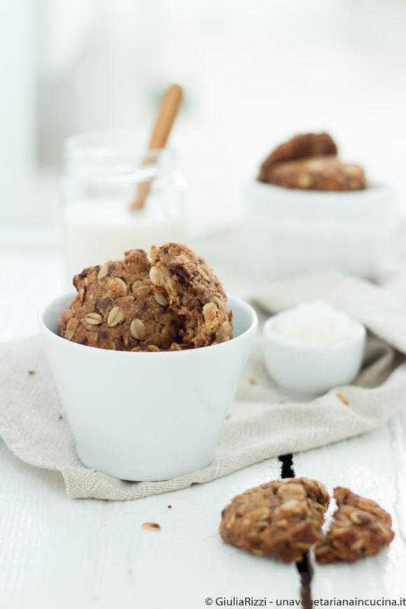 cookies integrali avena cocco