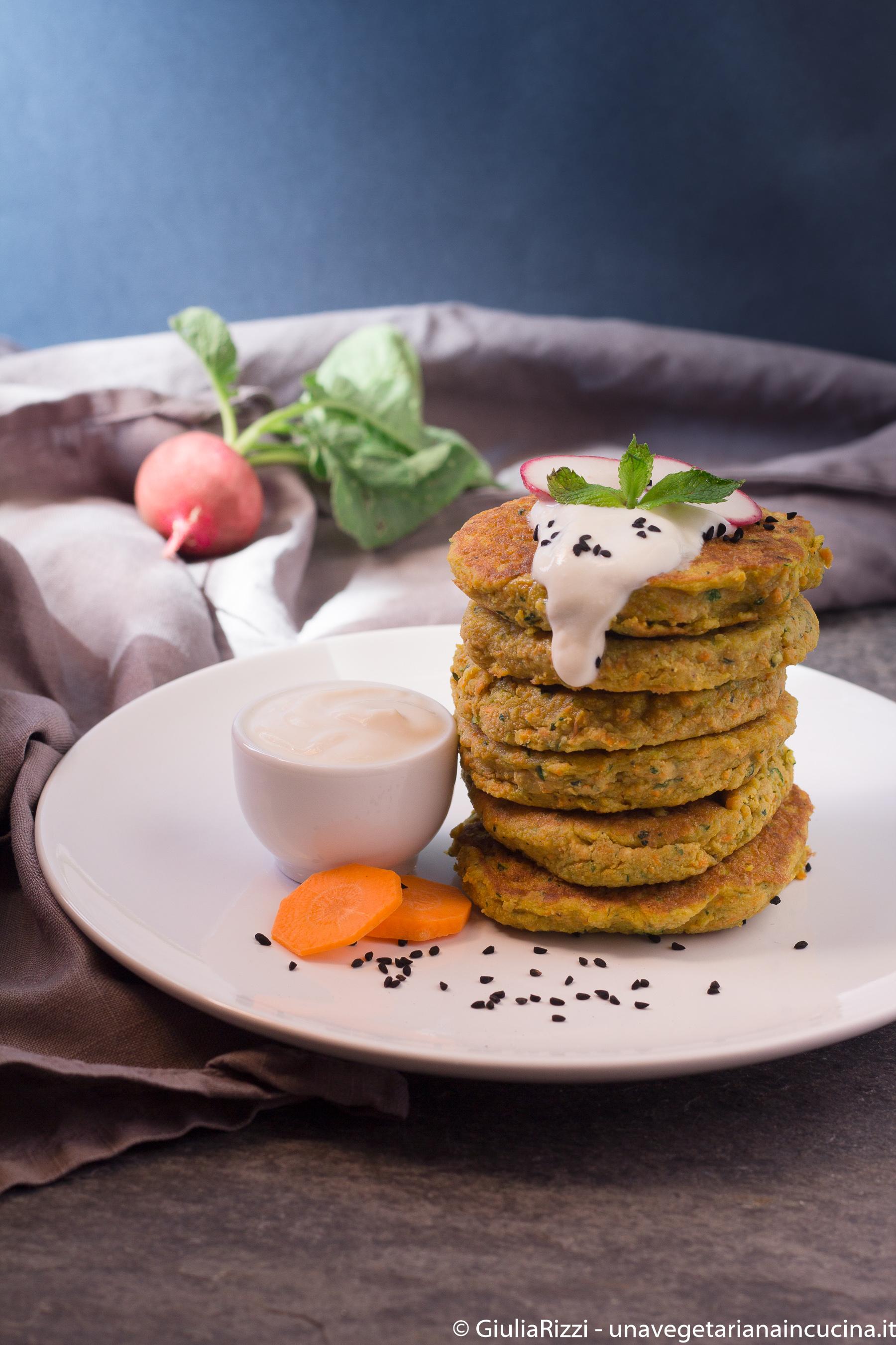 pancakes ceci verdure