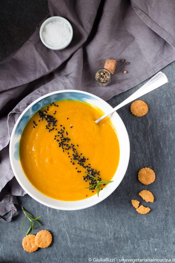 Crema zucca topinambour lenticchie