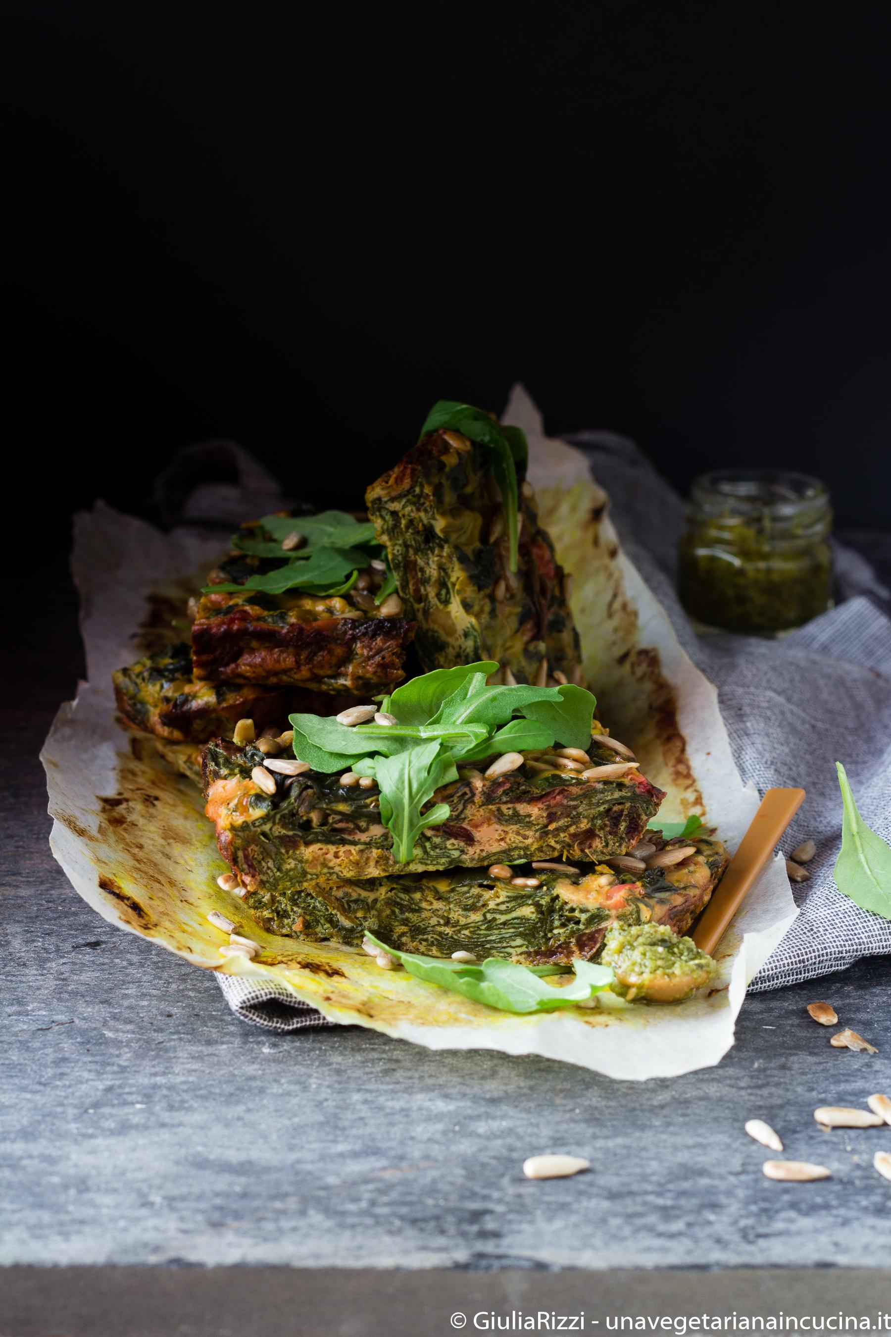 frittata foglie barbabietola