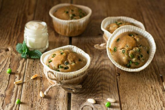 muffin vegan piselli pesto