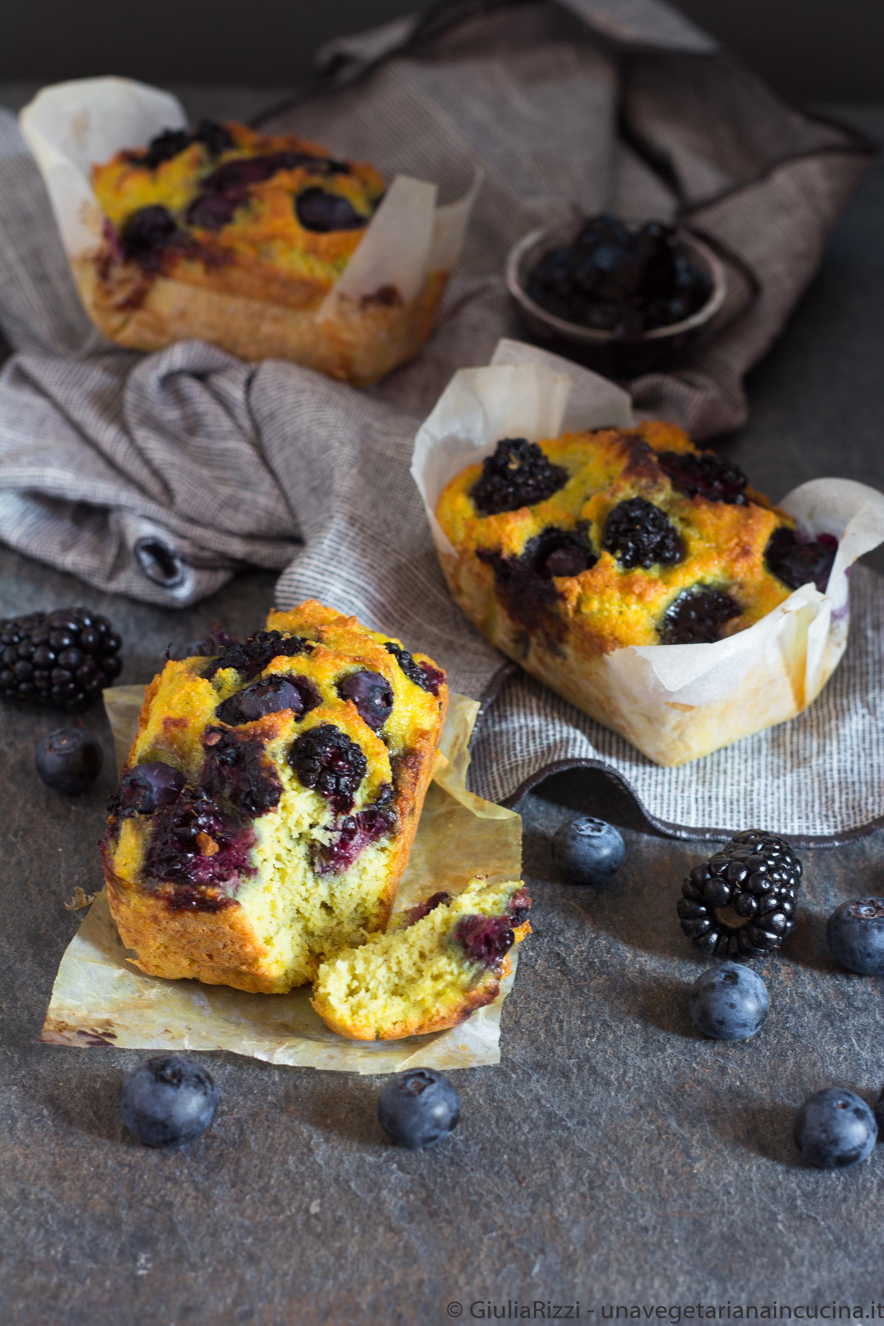 plumcake senza glutine frutti bosco