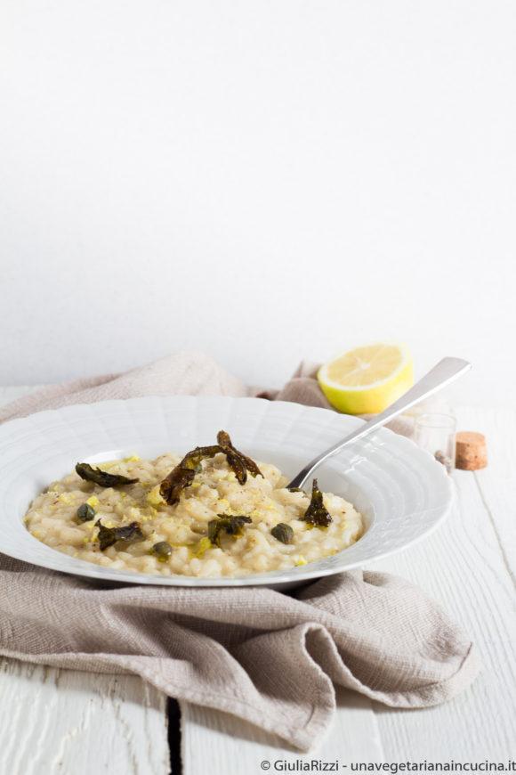 risotto cavolfiore limone capperi