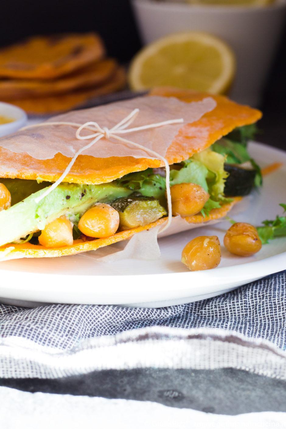 tortillas patata dolce senza glutine