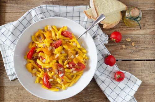 pasta zafferano peperoni