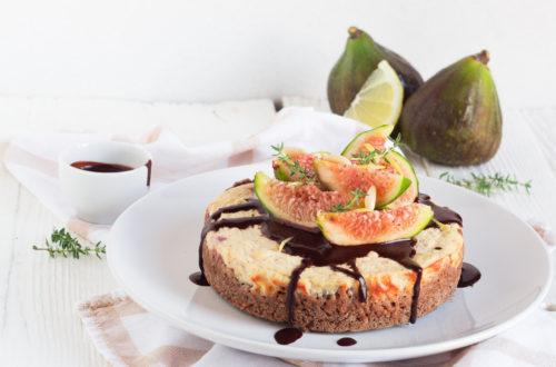 cheesecake senza glutine fichi