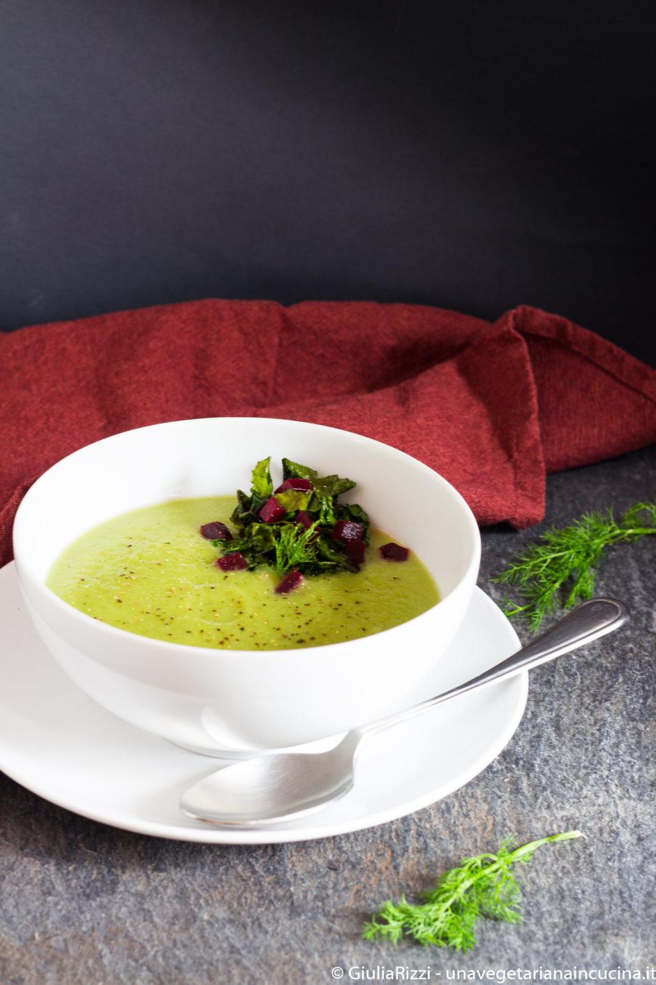 zuppa finocchio piselli broccolo