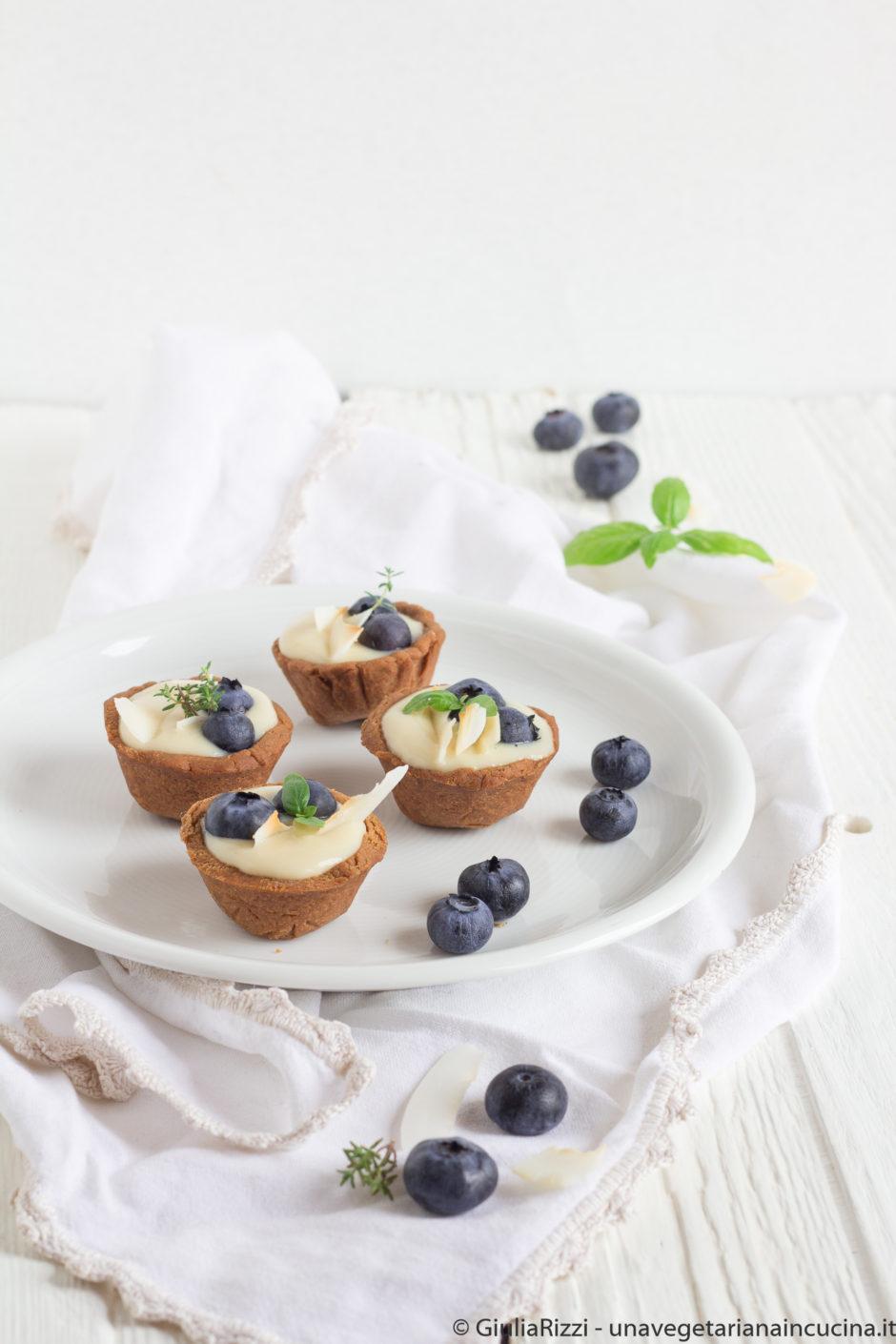 cestini senza glutine crema mirtilli